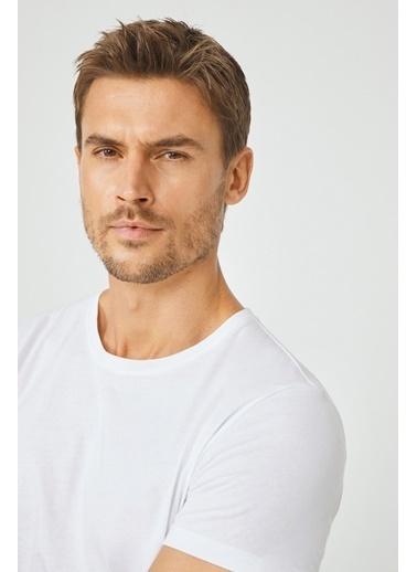 Avva Erkek   Tişört E001000 Beyaz